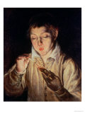 Child Blowing on an Ember, c.1570 Giclee Print by  El Greco