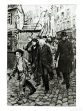 Gavroche Leading a Demonstration, Illustration from Les Miserables by Victor Hugo Giclee Print by Pierre Georges Jeanniot