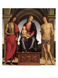 Madonna and Child with St. John the Baptist and St. Sebastian, 1493 Giclee Print by Pietro Perugino