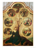 Central Panel of a Triptych Depicting the Seven Sorrows of the Virgin, c.1520-35 Giclee Print by Bernard van Orley