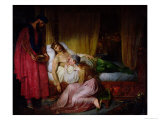 The Devotion of Princess Sybille, 1832 Giclee Print by Felix Auvray