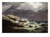 Shipwreck on the Norwegian Coast, 1831 Giclee Print by Johan Christian Clausen Dahl