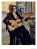 Lady with a Guitar, 1911 Giclee Print by Konstantin A. Korovin