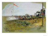 The Albert - First Stage, 900 Yards, Bisley Camp, 1893 Giclee Print by Cecil Cutler