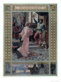 Illustration from The Merchant of Venice by William Shakespeare Giclee Print by Christian August Printz
