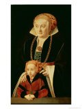 Portrait of a Woman with Her Daughter Lámina giclée por Bartholomaeus Bruyn