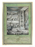 The Crowning of Voltaire at the Theatre Francais Giclee Print by Gabriel De Saint-aubin