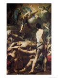 Martyrdom of St. Processus and St. Martinian Giclee Print by Valentin de Boulogne 