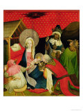 The Adoration of the Magi, Panel from St. Thomas Altar from St. John's Church, Hamburg, Begun 1424 Giclee Print by Master Francke