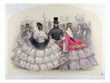 Ladies Wearing Crinolines at the Royal Italian Opera, Covent Garden, 1859 Giclee Print by Thomas Francois Guerin