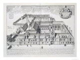 Balliol College, Oxford, from Oxonia Illustrata, Published 1675 Giclee Print by David Loggan
