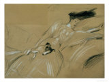 The Duchess of Marlborough Dozing Off at Blenheim Palace Giclee Print by Paul César Helleu