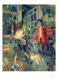 At the Window, 1919 Giclee Print by Konstantin A. Korovin