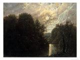 River Landscape in the Rosental Near Leipzig Giclee Print by Karl Gustav Carus