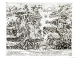 Map of the Siege of Malta in 1565 Giclee Print