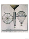 The First Parachute Descent by Andre-Jacques Garnerin Giclee Print
