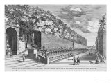 The Double Terrace of One Hundred Fountains at Villa D'Este Giclee Print by Giovanni Francesco Venturini