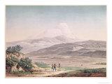 View of Cajambe, Voyages Aux Regions Equinoxiales du Nouveau Continent by Alexander de Humboldt Giclee Print by Pierre Antoine Marchais