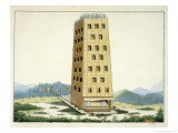 Moveable Tower, After Caesar's Tower, Namur, History of the Development and Customs of Chivalry Giclee Print by Friedrich Martin Von Reibisch