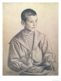 Portrait of Dmitri Dmitrievich Shostakovich Giclee Print by B. M. Kustodiev