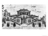 East Side of the Palace of the Calm of the Sea, Gardens of Yuan Ming Yuan, Peking, 1783-86 Giclee Print by Giuseppe Castiglione