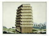 Moveable Tower, a History of the Development and Customs of Chivalry, c.1842 Giclee Print by Friedrich Martin Von Reibisch