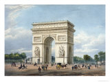 Arc de Triomphe and the Place de l'Etoile, Promenades Dans Paris et Ses Environs, c.1840 Giclee Print by Philippe Benoist