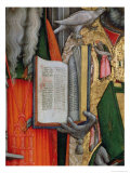 St. Jerome's Bible and St. Gregory's Dove, Detail of the Virgin Enthroned with Saints, 1446 Giclee Print by Antonio Vivarini