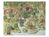 Methods of Sieging and Attacking, c.1592 Giclee Print by Theodor de Bry