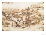 Arno Landscape, 5th August, 1473 Giclee Print by Leonardo da Vinci 