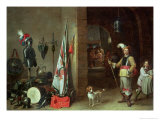 Guard Room Giclee Print by David Teniers the Younger