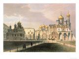View of the Cathedrals in the Moscow Kremlin, Printed by Lemercier, Paris, 1840S Giclee Print by Louis Jules Arnout
