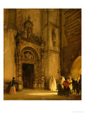 Side Portal of Como Cathedral, 1850 Giclee Print by Rudolph von Alt
