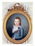 Medallion Portrait of Louis-Charles Giclee Print by Alexandre Kucharski