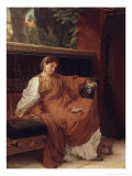 Lesbia Weeping over a Sparrow, 1866 Giclee Print by Sir Lawrence Alma-Tadema