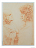 Two Heads in Profile, c.1500 Giclee Print by  Leonardo da Vinci