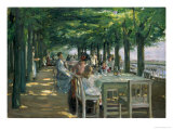 The Terrace at the Restaurant Jacob in Nienstedten on the Elbe, 1902 Giclee Print by Max Liebermann