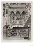 Staircase at Strawberry Hill, Engraved Newton, Description of Strawberry Hill, c.1784 Giclee Print by Sydenham Teast Edwards