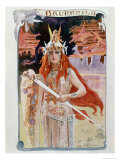 Brunnhilde, Illustration from Die Walkure by Richard Wagner Giclee Print by Gaston Bussiere