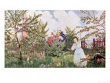 The Orchard, 1918 Giclee Print by B. M. Kustodiev