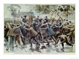 Unrest in Brittany 18th August 1902, Bretons Against Enforcement of Law About Congregations, 1902 Gicleetryck av Eugene Damblans