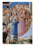 The Coronation of the Virgin, Detail of Musical Angels from the Left Hand Side, c.1430-32 Giclee Print by  Fra Angelico