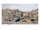 Repair Works on the Railway Line, 1874 Giclee Print by Konstantin Apollonovich Savitsky
