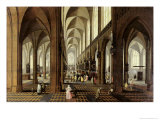 Interior of Antwerp Cathedral, c.1650 Reproduction proc&#233;d&#233; gicl&#233;e par Pieter Neeffs the Younger