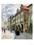 Ulice K Mostu, Mala Strana, Prague, Illustration from Stara Praha Giclee Print by Vaclav Jansa