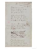 Il Pleure Dans Mon Coeur, Comme Il Pleut Sur La Ville, Romances Sans Paroles, c.1873 Giclee Print by Paul Verlaine