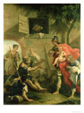 The Infant Cyrus with the Shepherd Giclée-tryk af Sebastiano Ricci