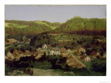 View of the Village of Tenniken, 1846 Giclee Print by Arnold Bocklin
