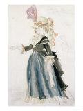 Costume Design For Misa Sert AsUne Dame de La Cour For La Fete Merveilleuse, Versailles, 1923 Giclee Print by Juan Gris