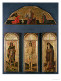 St. Sebastian Between St. John the Baptist and St. Anthony the Abbot Giclee Print by Giovanni Bellini